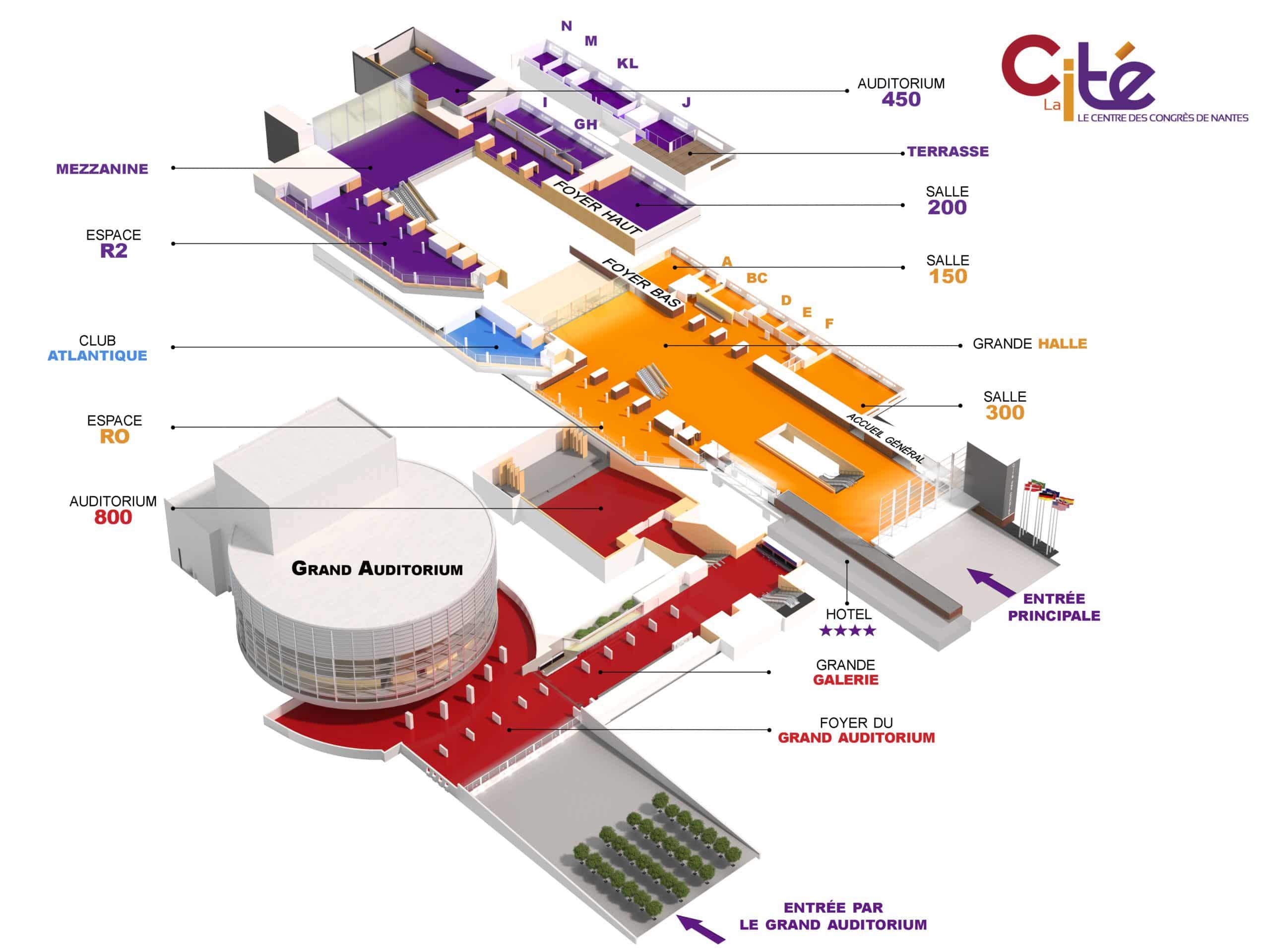 Plan Des Salles De La Cite Congres Nantes