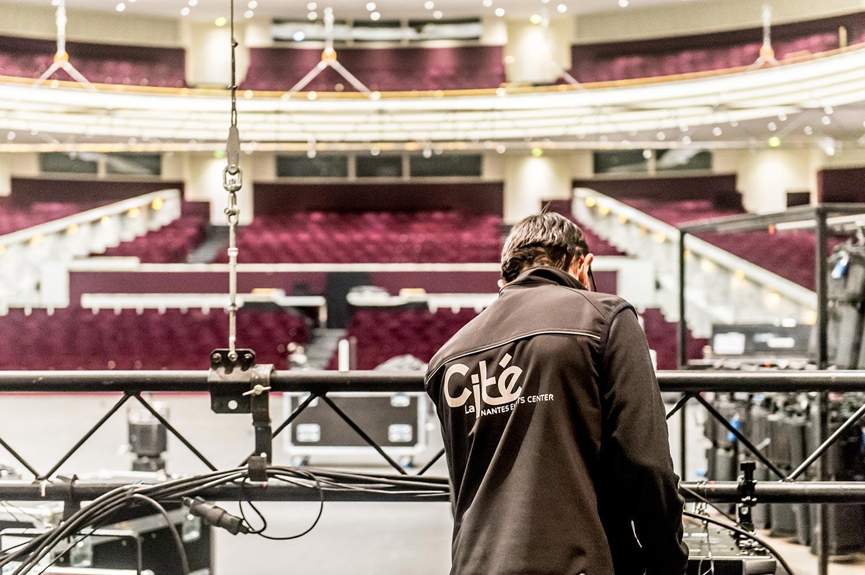 La technique Grand Auditorium la cité des congrès de nantes