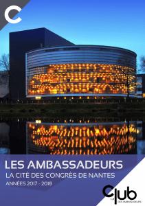 Plaquette des Ambassadeurs Nantes Destination Congrès 2017 2018